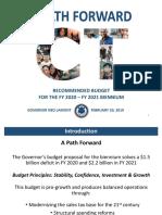 Gov Lamont Fiscal year 2020 - 2021 Budget Presentation