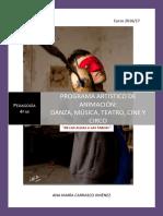 El Programa Artístico de Formación