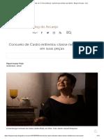 Consuelo de Castro Enfrentou Classe Média e Ditadura Em Suas Peças - Blog Do Arcanjo - UOL