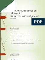 Métodos Cualitativos en Psicología Diseño, Métodos, Técnicas y Muestreo