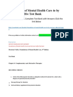 Foundations of Mental Health Care 4e by Morrison-Valfre Test Bank