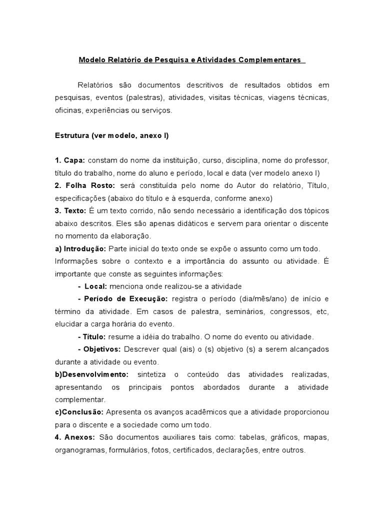 Modelo de relatorio de gestao