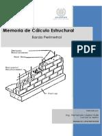 Portada Memoria de Cálculo Barda Colinas Del Mar Ensenada