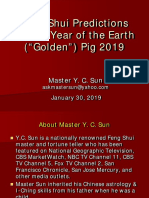 Annual Prediction for the Year of Earth Pig 2019 by Master YC Sun
