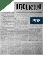 REVISTA INQUIETUD - MARÍA RUTH FISCHER - PARANÁ, ENTRE RÍOS, ARGENTINA