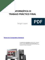 Informática III - Sergio Lopez