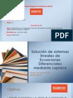 Solución de Sistemas Lineales de Ecuaciones Diferenciales Mediante Laplace