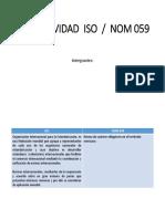 NOM 059 vs ISO