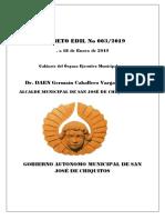Decreto Edil 003-2019 - Gabinete Del Organo Ejecutivo Municipal