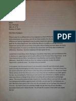 Premont Resignation Letter