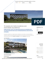 12 Projetos de Hotéis Brasileiros Com Diversidade Arquitetônica - ARCOweb