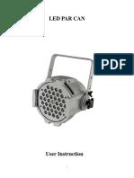 LED Par Can User Manual