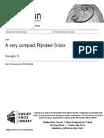 Canright Compact Rijndael