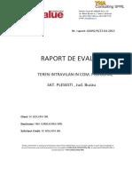 raport evaluare model