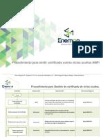 Procedimiento Emision de Certificado