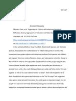 senior capstone annotated bibliography