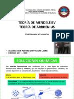 TEORÍA DE MENDELÉIEV, TEORÍA DE ARRHENIUS - ERIK CONTRERAS 2011-103011.pptx