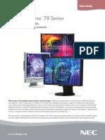 NEC MultiSync 70 Series