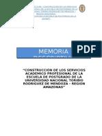 Memoria Descriptiva Postgrado