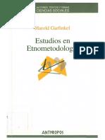 Garfinkel - Estudios de Etnometodología - Www.refugiosociologico.blogspot.com