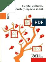 Capital Cultural, Escuela y Espacio Social_Bourdieu