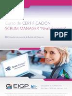 Temario Curso Certificacion Scrum Manager Nivel Experto