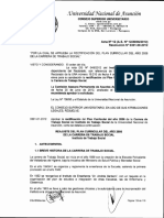Resolución N° 0301-00-2012. Plan Curricular Anual ITS UNA