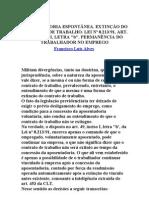 APOSENTADORIA ESPONTÂNEA