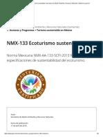 Norma Mexicana NMX-AA-133-SCFI-2013 Requisitos y especificaciones de sustentabilidad del ecoturismo 17-04-18.pdf