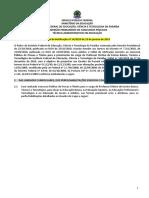 Edital 14 2019 de Retificacao Do Edital 148 2018 Professor