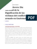Dignificación Del Conflicto Armado en Guatemala