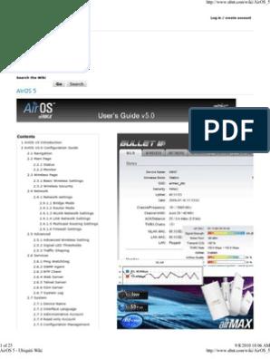 AirOS 5 - Ubiquiti Wiki   Wireless Lan   Wireless Access Point