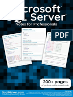 Microsoft Sq l Server Notes for Professionals