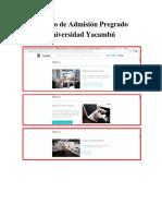 Proceso de Admisión Pregrado Universidad Yacambu