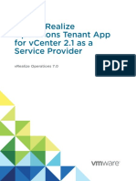 Using VROps Tenant App for VCenter as a Service Provider