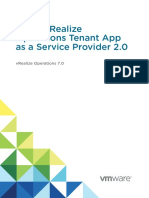 Using VROps for Tenant App as a Service Provider 2.0
