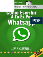 Cómo escribirle a tu ex novia por Whatsapp para intentar recuperarla