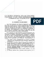 Teoría General de Los Usos Mercantiles en Yugoslavia_ Roberto Goldschmidt