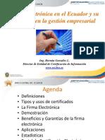Presentación Firma Electrónica