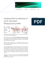 Healing Skin by Altering It's PH & Microbial (Malassezia) Profile