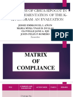Matrix of Compliance
