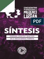 Sintesis Encuentro Plurinacional de Mujeres que Luchan (8M 2019).pdf