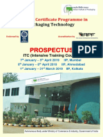 Itc Intensive Training Course Three Months Certificate Programme in Packaging Te 195