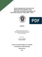 Skripsi Pengaruh Corporate Governance Terhadap Manajemen Laba