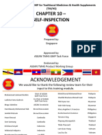 ASEAN TMHS GMP Training Chapter 10 Self Inspection FD 28 Nov 2016 1