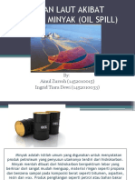 Pencemaran Laut Akibat Tumpahan Minyak (Oil Spill