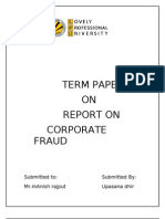 Report on Corporate Fraud