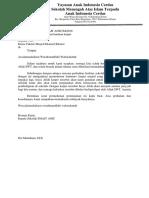 contoh surat Permohonan Karpet
