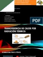 Trabajo de Transferencia de Calor Por Radiación Térmica
