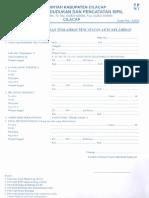 Formulir Pendaftaran Terlambat Pencatatan Akte Kelahiran